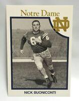 Nick Buoniconti 1959-1961 Notre Dame Football Trading Card Fighting Irish team
