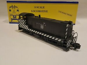 American Models S Gauge  BALDWIN SWITCHER S 1209 ZEBRA AT&SF  Diesel Locomotive
