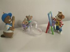 3 Hallmark Keepsake ornaments Hearts Full of Love, Busy Batter, Dog with Easel