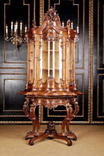 Carved Frederic The Great Rococo Cabinet UM 1850-70. Solid Walnut