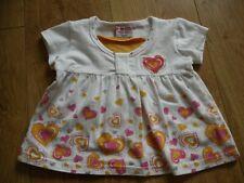 Baby girls 2 years white short sleeve tshirt