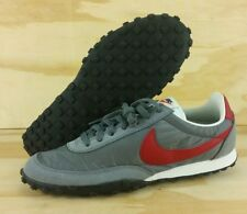 Nike Waffle Racer 17 Grey Gym Red Shoe 876255-004 Internationalist Men's Size 10