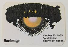Grateful Dead Backstage Pass 10-25-85 Sportatorium Hollywood FL Rick Griffin