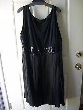 NWT! R&M Richards 20W Black Sleeveless Sequenced Waist. Originally $110
