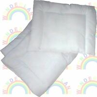 cot DUVET PILLOW crib QUILT pram MANY SIZES moses basket car seat JUNIOR BED