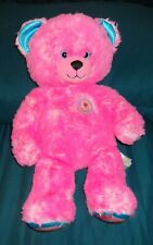 "BAB Build A Bear Workshop Pink Bear Plush 16"" Donut With Sprinkles Bear"