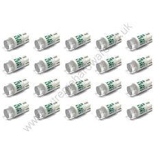 20 X Base de Cuña Verde 12v 10mm T10 Bombillas LED Para Pulsadores-Mame Arcade