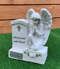 Angel by Headstone for for LITTLE ANGEL  Grave Cemetery Memorial Ornament