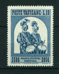 Vatican 1966 450th Anniversary of Swiss Guard 10L blue stamp. Mint. Sg 237