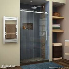 DREAMLINE ENIGMA AIR 44 48 X 76 SEMI FRAME LESS SLIDING CLEAR GLASS SHOWER DOOR