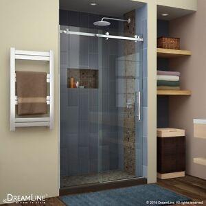 DREAMLINE ENIGMA AIR 44 48 X 76 SEMI FRAME LESS SLIDING CLEAR GLASS SHOWER DOOR