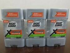 Right Guard Total Defense 5 Power Gel Antiperspirant Fresh Blast 3 oz, Pack of 3