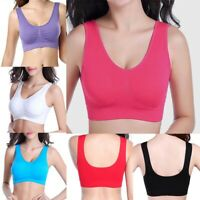 Vest Yoga Sports Underwear Workout Stretch Crop Top Bra Fitness Women Seamless