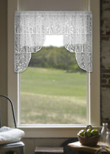 "Heritage Lace White RABBIT HOLLOW Window Swag Pair - 72""W x 39""L"