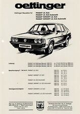 VW PASSAT OETTINGER B2 1600 1800 TUNING Prospekt Brochure Sheet 99
