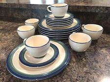 Pfaltzgraff OCEAN BREEZE Dinnerware Set Plates Cups Saucers + EXTRAS - 23 Pieces & Ocean Breeze White Pfaltzgraff China u0026 Dinnerware | eBay