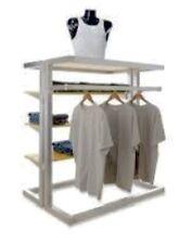 Alta Upscale Island Merchandiser Cloth Rack Shelving Store Fixtures Need To Sale