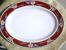 """Noritake - New Drama (Qty 1) 13 1/2"""" chop / oval platter #EB802 / Excellent cond"""