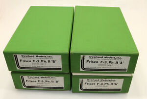 Lot of (4) OMI  Brass Frisco F-3 A,B Diesels EMPTY BOXES ONLY NO LOCOMOTIVES HO