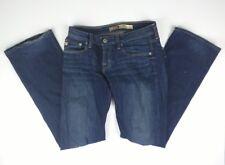Womens Big Star Remy 26R Jeans Regular Dark Medium Wash Embroidered Low Rise Fit