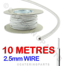 Por Metro 2.5mm RESISTENTE AL CALOR SILICONA Vidrio Fibra Cable Alambre X 10m