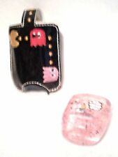 Hand Sanitizer Holder Black Pac Man Game Embroidered 1 oz Bath & Body Works