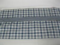 """2 Croscill Blue And Creme Plaid Valances 86"""" W X 17""""L Made in USA"""
