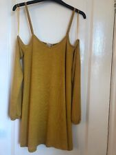 Ladies Cold Shoulder Top Size 8 River Island Mustard. Swing Top RRP £24.00