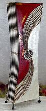 XL Stehlampe Afrika Leuchte Lampe Bambus Glas Bodenlampe Tischlampe Orient Neu