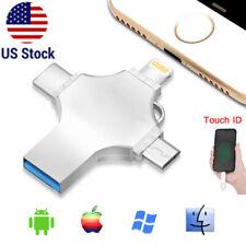 1Tb 512Gb Usb 3.0 Flash Drive Memory Stick Type C Otg Thumb For iPhone Pc