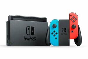 Nintendo Switch - Konsole - Neon-Rot/Blau - KOMPLETT - V2 (2019) - TOP Zustand