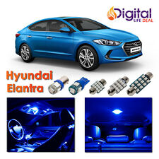 6 x Ultra Blue Interior LED Lights Package Kit for 2013 - 2018 Hyundai Elantra
