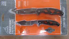 GERBER PARAFRAME GUTHOOK and CAPER HUNTING FIXED BLADE KNIFE COMBO SET