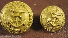 2 ANCIENS BOUTONS Cie MARITIME: L.B & S.C.Ry  STEAM PACKETS* BELLE JARDINIERE