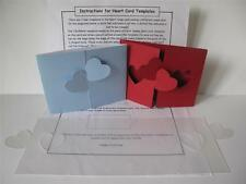 Plastic Interlocking Heart Card Template to make Double Fold 115x90mm Card AM468
