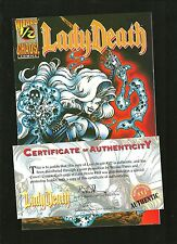 Lady Death 1/2 Wizard Coa limited Nm