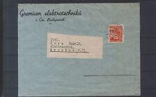 Böhmen und Mähren - 38 als Einzelfrankatur auf Bedarfsbrief