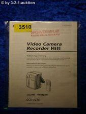 Sony Bedienungsanleitung CCD SC8E Video Camera Recorder (#3510)