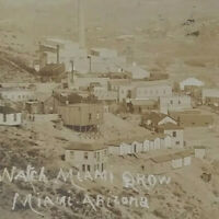 c1907-1915 Miami Arizona Mining Town RPPC Town, Buildings, Homes Jan 1915 Post