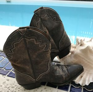 JB DILLON Dk Brown LEATHER Point Toe Cowgirl Boots JBW22404  WOMENS 7 B