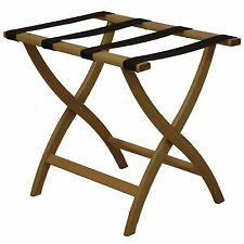 Wooden Mallet LR2-LOBRN Designer Curve Leg Luggage Rack - Light Oak New