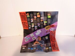 1991 Super Nintendo Entertainment System SNES How To Hook Up Your Console Poster