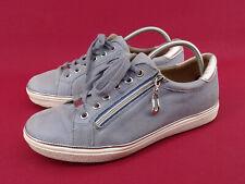 CAPRICE Schuhe Slipper Sneaker Damenschuhe Halbschuhe Leder Blau Gr. 38 - 5