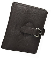 """Franklin Covey Leather """"Ava"""" Compact Binder, Charcoal (45810)"""