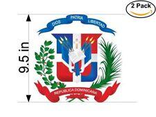escudo dominicano logo 2 Stickers 9.5 Inches Sticker Decal