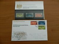 1970 IXth COMMONWEALTH GAMES PRESENTATION PACK  +  F D C IN VERY GOOD  CONDITION