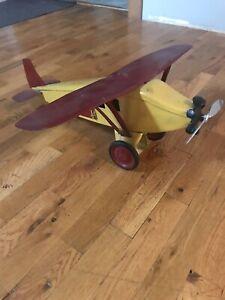 Keystone Toy Metal Airplane Mail Press Steel
