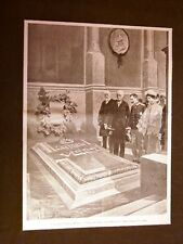 Milano nel 1901 Visita dei Reali d'Italia I Sovrani sulla tomba Giuseppe Verdi