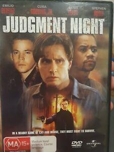 JUDGMENT NIGHT RARE DELETED DVD EMILIO ESTEVEZ & CUBA GOODING JR. THRILLER FILM