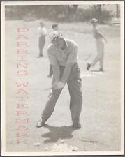 Vintage Photo Golfing Man Walter Burkemo w/ Golf Club in Swinging Motion 704310